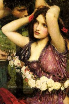 Flora and the Zephyrs detail,1898  John William Waterhouse