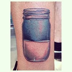 This optimistic jar. | 21 Mason Jar Tattoos That Are Surprisingly Awesome