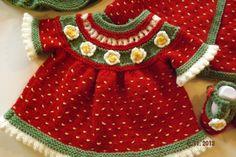 Baby Knitting Pattern Matinee Dress Coat jacket by HamptonTowers