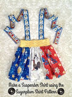 How to make a Suspender Skirt using the Sugarplum Skirt Pattern - Tie Dye Diva Patterns Blog
