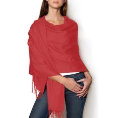 #Pashmina Shawl in Red.  Scarves #2dayslook #Scarves #kelly751#sasssjane #sunayildirim  www.2dayslook.com