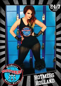 2013 Player Cards (MidState Mayhem Roller Derby- Springfield, IL) Photo by HJS Photography