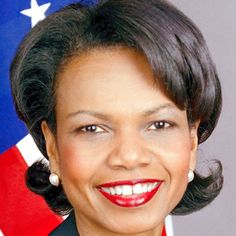 Condoleezza Rice.. Former US Secretary of State. She's the second woman and first African American woman to hold the post.