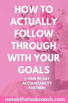 Tired of setting goals and NEVER accomplishing them. It's time to make a change and actually finish what we start. Plus get a FREE accountability partner along the way. Click to view goal setting tips and sign up for an accountability 90 day email series