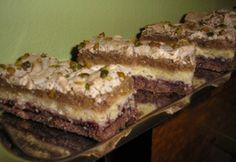 Lotti dióhabos szelet Hungarian Cake, Hungarian Recipes, Poppy Cake, Strudel, Cake Cookies, Cupcakes, Biscotti, Ham, Recipies