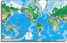 Laminated World Map Mural C900