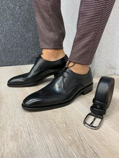 Collection: Product: Natural Leather Shoes Color code: Navy Black Shoes Material: Natural Leather Available Size: Package Include: Shoes and Belt Mens Loafers Shoes, Suit Shoes, Loafer Shoes, Shoes Men, Dress Shoes, Leather Heels, Calf Leather, Natural Leather, Black Shoes