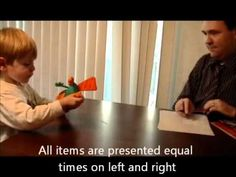 Excellent instructional video for teaching how to conduct a paired choice preference assessment.