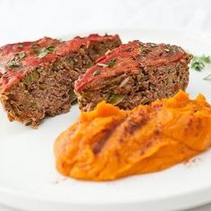 A meatloaf like no other!  This loaf starts with local Carne Locale grass-fed beef which we infuse with shredded zucchini diced onions bell peppers and organic spices for a deep rich flavor  nearly 50% of our loaf is veggie-based!  Sided with a cinnamon sweet potato mash blended with a hint of coconut oil. Dinner. Is. Done. #meatloaf #veggies #sweetpotatomash