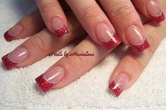 Image detail for -Christmas Nail Art Designs Gallery - CoolNailsArt Red Nail Art, Acrylic Nail Art, Glitter Nail Art, Red Glitter, Red Art, Fingernail Designs, Red Nail Designs, Holiday Nail Art, Christmas Nail Art Designs