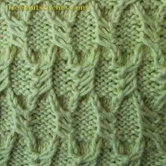 Scales knitting stitches