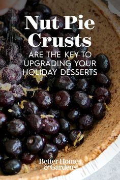 Made just like regular pie crust, nut pie crust recipes add chopped nuts to really enhance the texture and flavor of your pies. Whether it's a crunchy pecan pie crust for your pumpkin pie or a walnut crust for blueberry pie, your dessert game is about to get an upgrade with these easy, yet gourmet nut pie crusts. #nutpiecrust #homemadepiecrust #gourmetpiecrust #thanksgiving #christmas #bhg Pie Crust Uses, Pie Crust Recipes, Pie Crusts, Holiday Pies, Holiday Desserts, Candy Bar Pie Recipe, Dessert Games, Pear Pie, Gluten Free Pie
