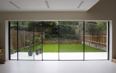 This is how thin I want the large sliding doors in the lounge and master bedroom to be, so we get max view to garden.