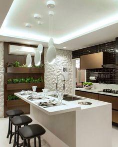 Trendy Home Decored Contemporary Traditional Interior Design Kitchen Room Design, Modern Kitchen Design, Kitchen Interior, Interior Design Images, Office Interior Design, Traditional Interior, Cuisines Design, Trendy Home, Bars For Home