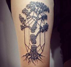 Blackwork tree tattoo #LisaOrth #blackworktreetattoos https://www.tattoodo.com/a/2016/03/15-impressive-blackwork-tree-tattoos/