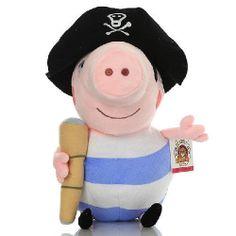 1 Peppa Pig Pirate George 25cm 10 inch Plush Toy by ubatgigi12 81cb8021c12a