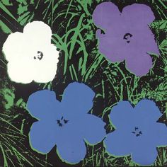 Andy Warhol . Flowers . 1964 acrylic and silkscreen ink on linen