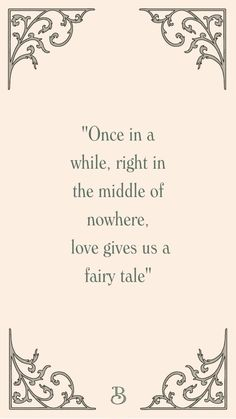 Quote about fairy tales and love