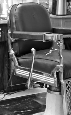 Vintage barbershop chair.... my grandpa owned a barbershop, I was to little to remember.  :)