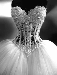 Corsetted wedding dress BLING!