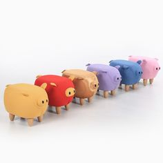 2017 new Cute Aminal Stool Pig Ottoman Washable Small Living Room Chair Children furniture made in China FREE SHIPPING