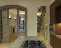 arched pocket door