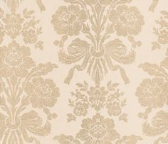 Tatton Champagne (3439794) - Laura Ashley Wallpapers - A beautiful and elegant damask motif of luxurious floral bouquets in a shimmering golden champagne shade, printed with glitter inks for that added sparkle effect. Additional colourways also available. Please request a sample for true colour match.