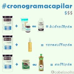 produtos cronograma capilar Beauty Care, Diy Beauty, Beauty Hacks, Natural Hair Care, Natural Hair Styles, Curly Afro Hair, Let Your Hair Down, Tips Belleza, Beauty Recipe