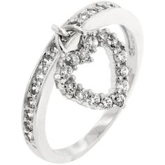 2.25 Engagement Ring Eternity Ring Wedding Ring Eternity Band Womens... (£20) ❤ liked on Polyvore featuring jewelry, cz jewellery, imitation diamond jewelry, sterling silver heart charm, faux diamond jewelry and heart shaped charms
