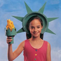 Liberty Crown and Torch  http://familyfun.go.com/4th-of-july/4th-of-july-crafts-decorations/patriotic-parade-wear/liberty-crown-and-torch-664395/