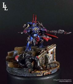 Sevatar Prince of Crows, First Captain of the Night Lords. In Midnight Clad