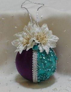 Shabby Chic Christmas Balls 25 by ShabbyChicXmas on Etsy