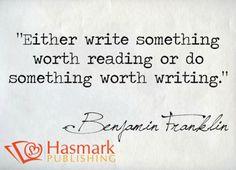 Do anything involving writing #HasmarkPublishing