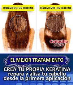 Tratamiento Intensivo para Cabello Maltratado con KERATINA hecha en casa   Curiositip