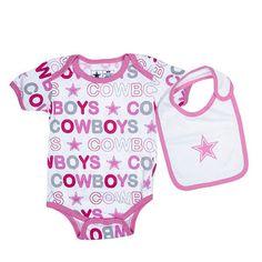 Dallas Cowboys Newborn Pink Punkin Bodysuit & Bib Set