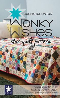 Put those scraps to work for you with a scrap-quilt pattern that plays up color and value from best-selling author Bonnie K. Hunter. Sew a field of wonky stars atop colorful scrappy squares and low-volume, string-pieced sashing. Easy rotary cutting and simple patchwork make this a great beginner quilt pattern, with pressing tips for perfect results. Let your imagination run wild with fabric and color placement.