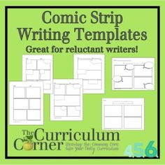 Comic Strip Writing Templates by The Curriculum Corner - great for reluctant writers!  | The Curriculum Corner