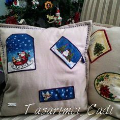 Santa And The Snowman Pillowcase by WITCHSCAULDRON on Etsy
