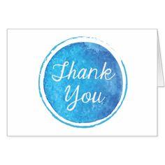 Thank You Blue Notecard
