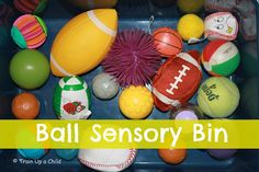 Train Up a Child: 5 Simple Sensory Bins for Babies and Toddlers http://trainupachildlearnaswego.blogspot.com/2012/09/5-simple-sensory-bins-for-babies-and.html