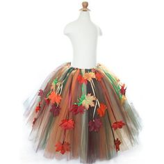 i like the fall leaves hanging down. To go under the the over skirt {For My fall fairy}