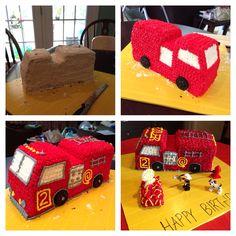 New fire truck cake parties decorations ideas Firefighter Birthday Cakes, Fireman Cake, Truck Birthday Cakes, Fireman Birthday, Fireman Party, Fire Engine Cake, Truck Cupcakes, Fire Fighter Cake, Fire Truck