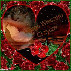 Wierszyki i gify na dobranoc: Gify i obrazki na dobranoc pary Good Morning My Love, Christmas Bulbs, Holiday Decor, Motto, Nova, Amor, Good Night, Good Morning Love, Christmas Light Bulbs