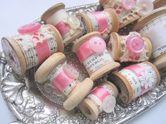 music sheet, ribbon, button spools