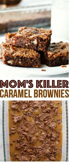 Mom's Killer Caramel Brownies Recipe -- Family Fresh Meals