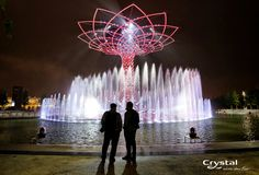 Expo Milano 2015 - Milan, Italy Milan Italy, Fountain, Fair Grounds, Crystals, Travel, Viajes, Traveling, Water Fountains, Crystal