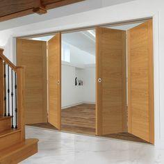 Thrufold Tigris Oak 2+2 Folding Door - Prefinished.    #foldingdoors #thrufolddoors #interiordoors #doordesign #directdoors