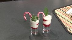 Candy Cane Dessert Shooters