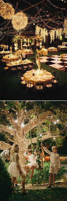 35 Excellent Dreamy Secret Garden Wedding Ideas with Invitations - Wedding Invites Paper lighting wedding decorations/ fall wedding candles/ rustic fall wedding evening party