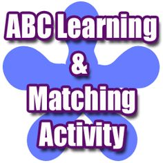 ABC Learning & Matching activity for preschool kids and young children.